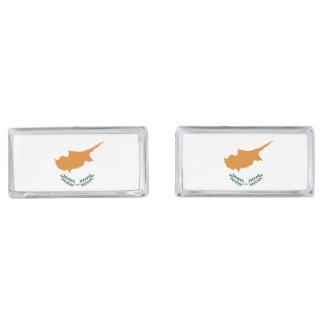 Cyprus Flag Silver Finish Cufflinks