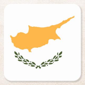 Cyprus Flag Square Paper Coaster