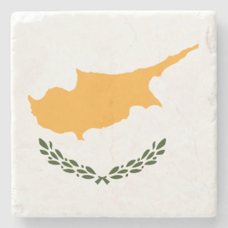 Cyprus Flag Stone Coaster