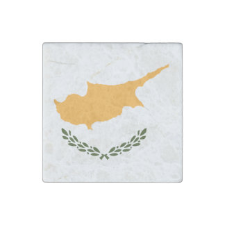 Cyprus Flag Stone Magnet