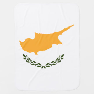 Cyprus Flag Swaddle Blankets