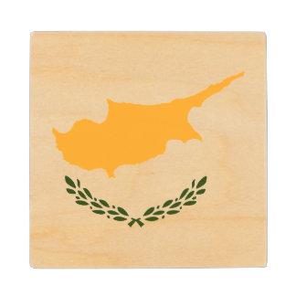 Cyprus Flag Wood Coaster