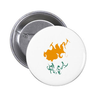 Cyprus Gnarly Flag Pinback Button