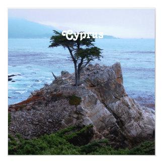 """Cyprus 5.25"""" Square Invitation Card"""