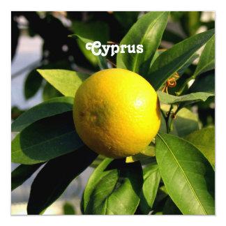 Cyprus Lemons 13 Cm X 13 Cm Square Invitation Card