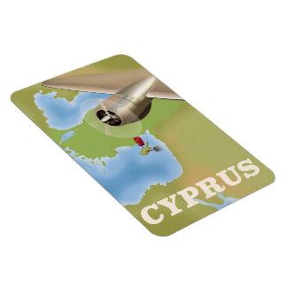 Cyprus map vintage travel poster magnet