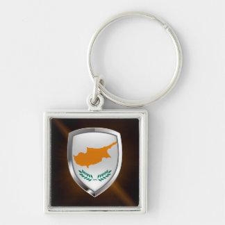 Cyprus Metallic Emblem Key Ring