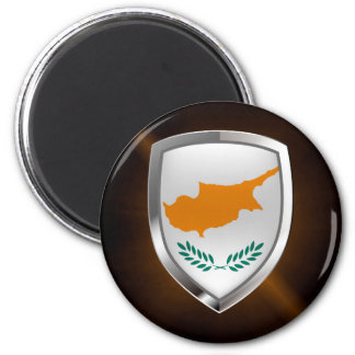 Cyprus Metallic Emblem Magnet