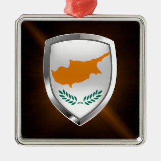 Cyprus Metallic Emblem Metal Ornament