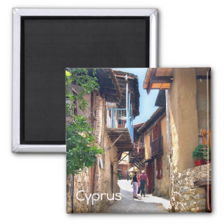 Cyprus mountain villages square magnet