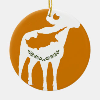CYPRUS NATIONAL RAM CERAMIC ORNAMENT