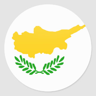 Cyprus quality Flag Circle Classic Round Sticker