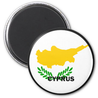Cyprus Roundel quality Flag 6 Cm Round Magnet