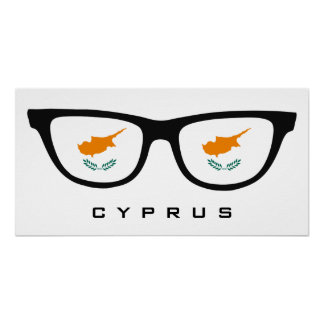 Cyprus Shades custom text & color poster