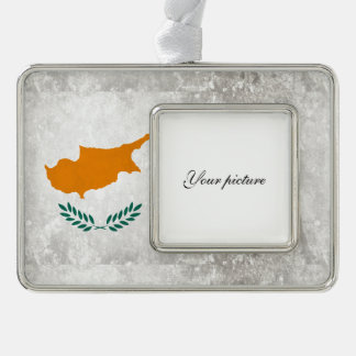 Cyprus Silver Plated Framed Ornament