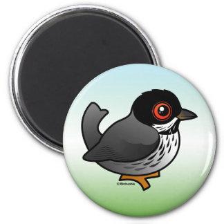 Cyprus Warbler 6 Cm Round Magnet