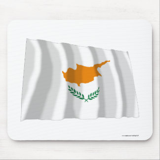 Cyprus Waving Flag Mouse Pads