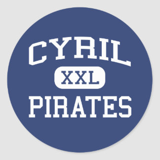 Cyril - Pirates - High School - Cyril Oklahoma Round Stickers