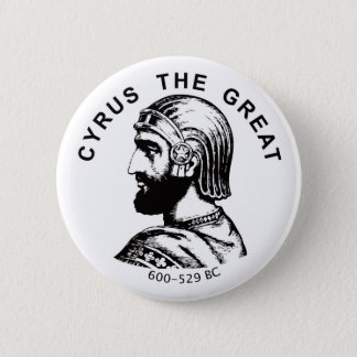 Cyrus the Great kourosh bozorg round button