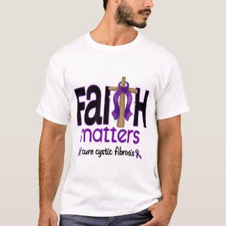 Cystic Fibrosis Faith Matters Cross 1 T-Shirt