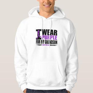 Cystic Fibrosis I Wear Purple For My Grandson Hooded Sweatshirt