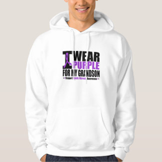 Cystic Fibrosis I Wear Purple For My Grandson Hoodie