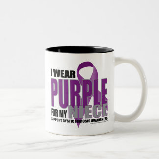 Cystic Fibrosis: Purple for Niece Two-Tone Coffee Mug