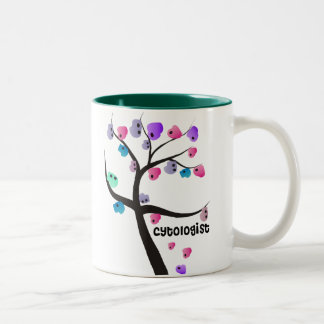 Cytologist Gifts Unique Tree With Cells Design Two-Tone Coffee Mug