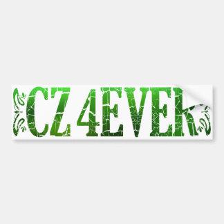 CZ 4 EVER in Textured Green Bumper Sticker
