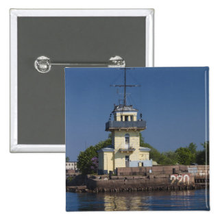Czar Peter the Greats Naval fortress town Pinback Button