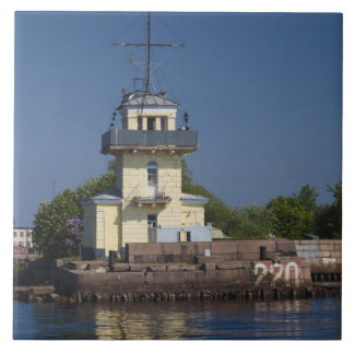 Czar Peter the Greats Naval fortress town Large Square Tile