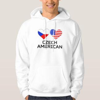 Czech American Hearts Hoodie