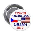 Czech americans for Obama Pin