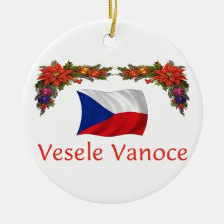 Czech Christmas Ceramic Ornament