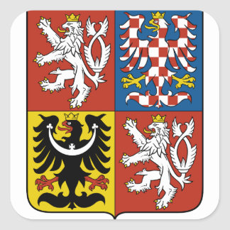czech emblem square sticker