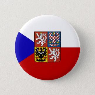 Czech flag 6 cm round badge