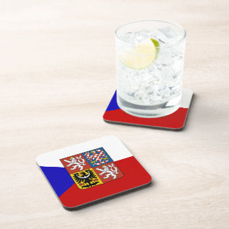 Czech flag coaster