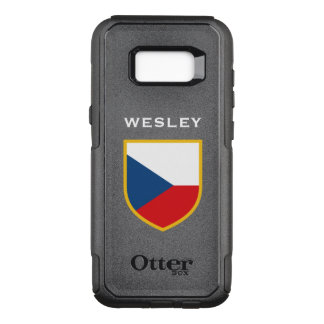 Czech Flag Customized OtterBox Commuter Samsung Galaxy S8+ Case
