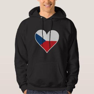 Czech Flag Heart Hoodie