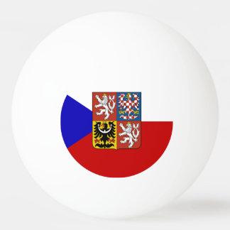 Czech flag ping pong ball