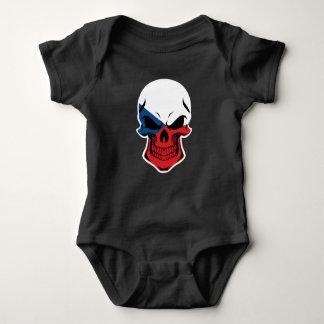 Czech Flag Skull Baby Bodysuit