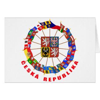 Czech Flags Pinwheel Card