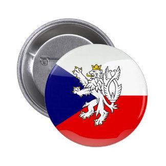 Czech glossy flag 6 cm round badge