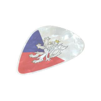 Czech glossy flag pearl celluloid guitar pick