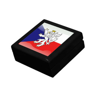 Czech glossy flag small square gift box