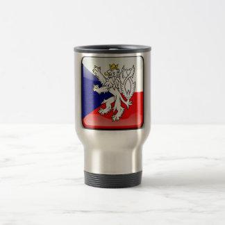 Czech glossy flag travel mug