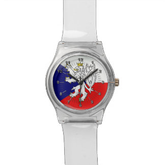 Czech glossy flag watch