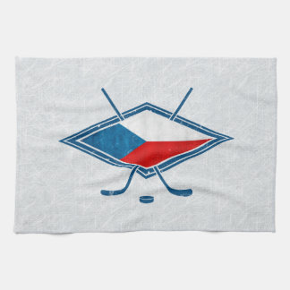 Czech Hockey Flag Logo český Tea Towel