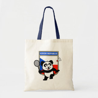 Czech Republic Badminton Panda Tote Bag