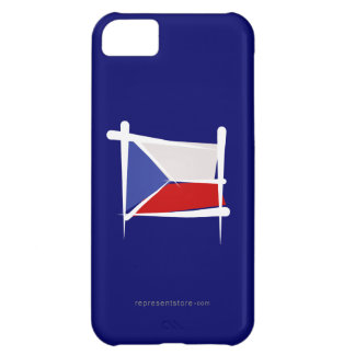 Czech Republic Brush Flag Cover For iPhone 5C